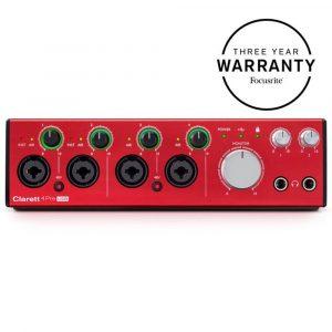 Focusrite Clarett 4Pre USB 18 In/8 Out Audio Interface
